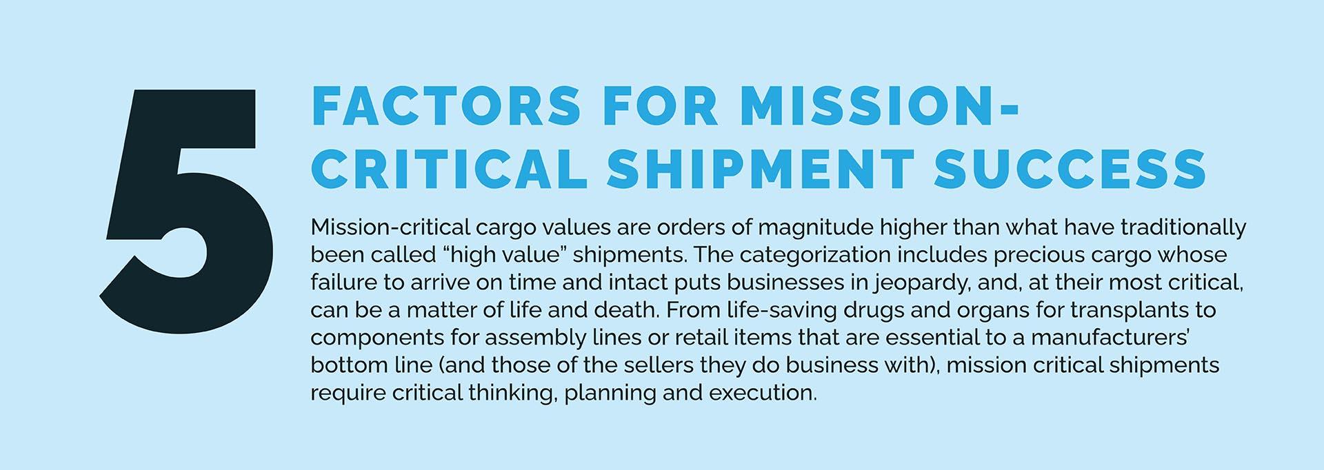 5 Factors for Mission-Critical Shipment Success